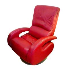 Red Leather Recliner by Lane