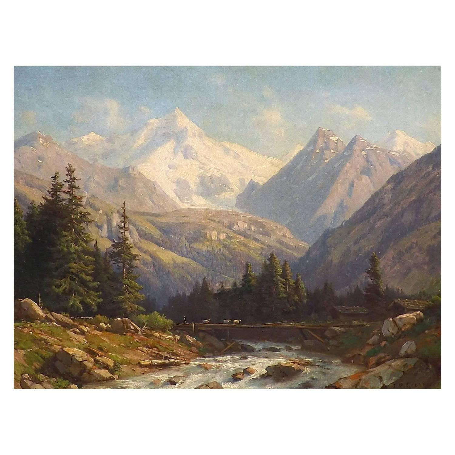 Swiss Alps By Jean Philippe George Julliard For Sale At
