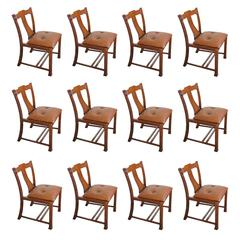 Beautiful Set of 12 Chairs, Italian Design, 1960