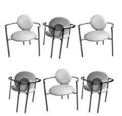 Set of Six Dining Chairs by Brueton