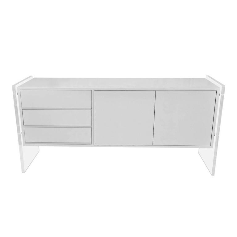 Lucite Panel Dresser or Sideboard