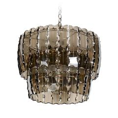 Fontana Arte Smoked Glass Chandelier