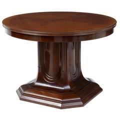 19th Century Mahogany Pedestal Base Center Table