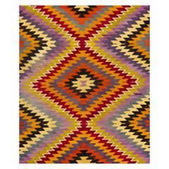 Dazzling Colorful Nomadic Kilim Rug