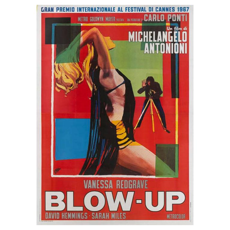 """Blow Up"" Original Italian Movie Poster"