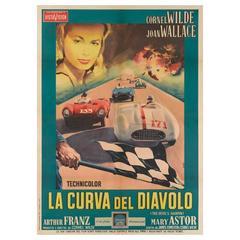 The Devil's Hairpin / La Curva del Diavolo Original Italian Film Poster