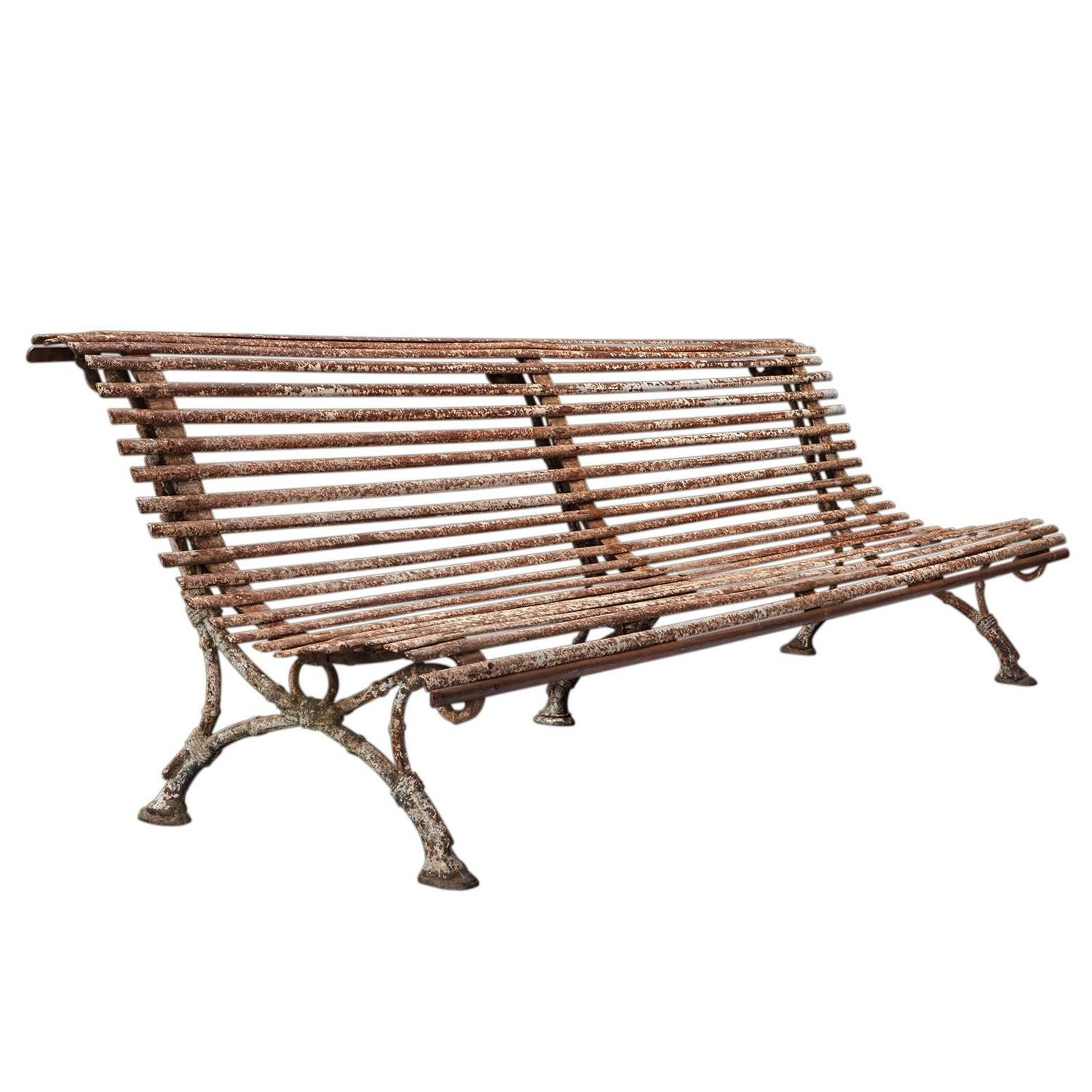 Iron Garden Bench At 1stdibs