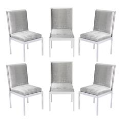 Set Of Six Dining Chairs In Polished Chrome By Milo Baughman At 1stdibs