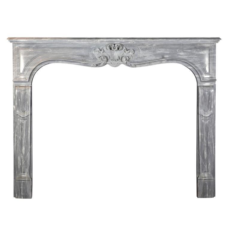 19th Century Blue Turquin Antique Fireplace Mantel