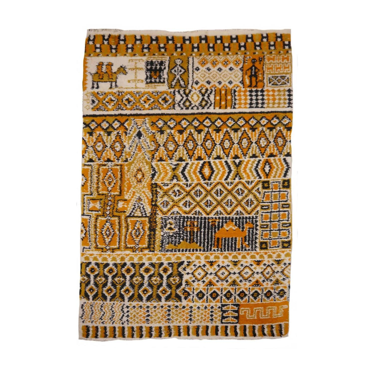 Rare MoroccanNorth African Tribal Berber Rug For Sale at