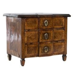 French Marquetry Jewelry Box in the Form of a Commode