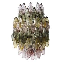 Large Murano Glass 'Poliedri' Chandelier by Carlo Scarpa