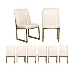 Set of Eight Thayer Coggin Chairs by Milo Baughman, circa 1983, USA