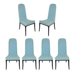 Set of Six Tall Back Dining Chairs by Erwin Lambeth