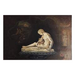 """Dream of Greece,"" Atmospheric Masterwork Painting by WPA Muralist Durzynski"