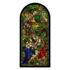 Very Beautiful Antique Victorian Stained Glass Window