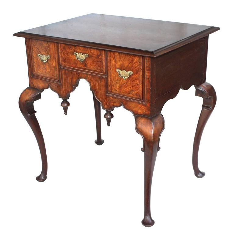 George II Walnut Lowboy For Sale