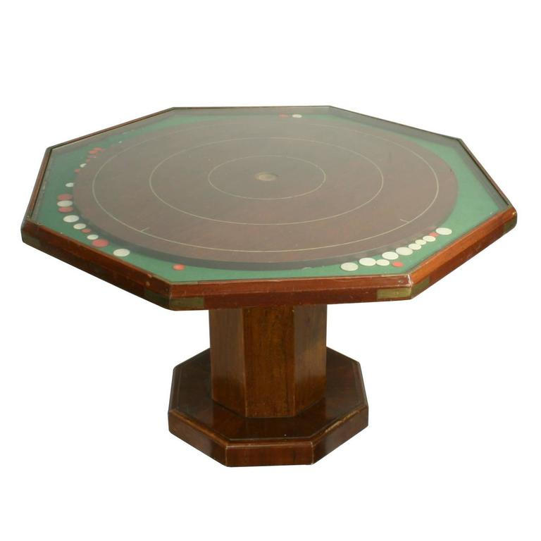 Vintage Crokinole Game Board Coffee Table At 1stdibs