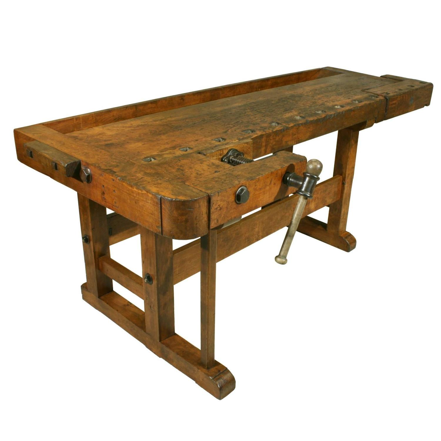 Antique Woodworking Workbench At 1stdibs