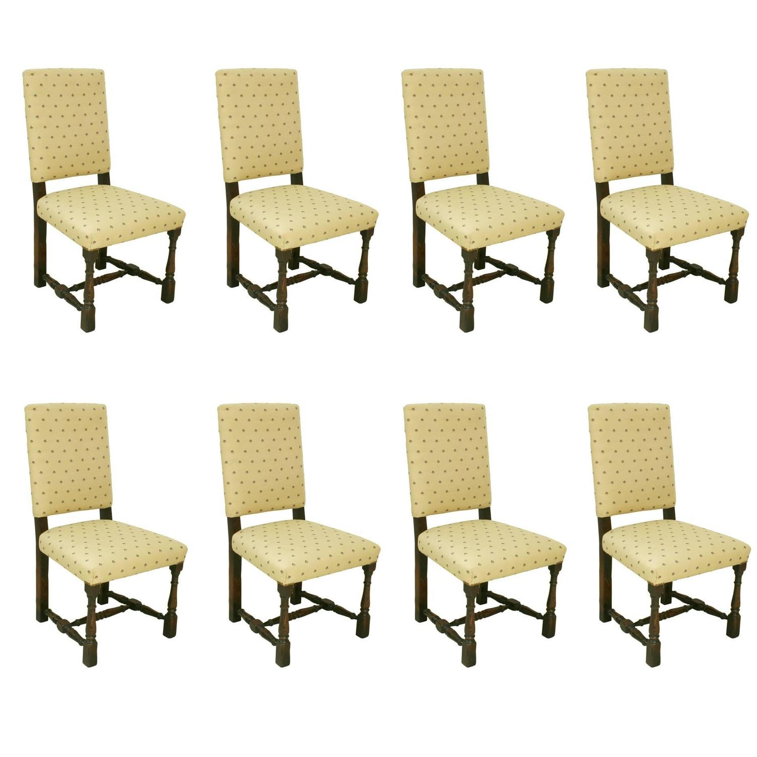 set of eight dining chairs at 1stdibs