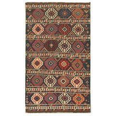 Antique circa 1890 Caucasian Shirvan Kilim