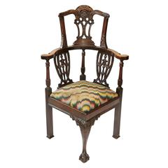 English 19th Century, Georgian Style Desk Chair, circa 1880
