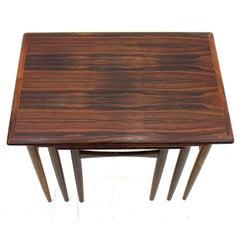 Wood Nesting Tables, Denmark 1960s
