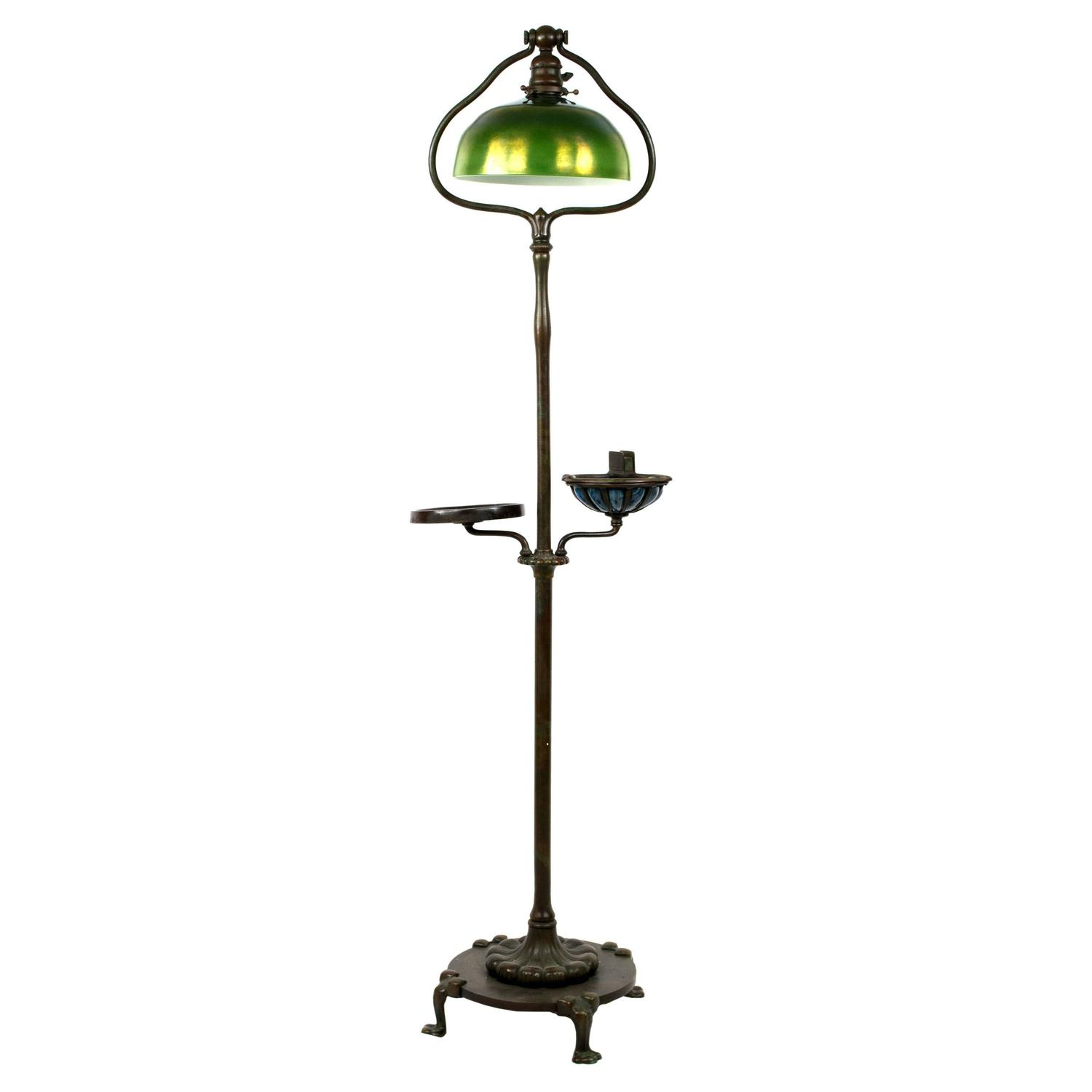 Tiffany Floor Lamp With Favrile Glass Shade At 1stdibs