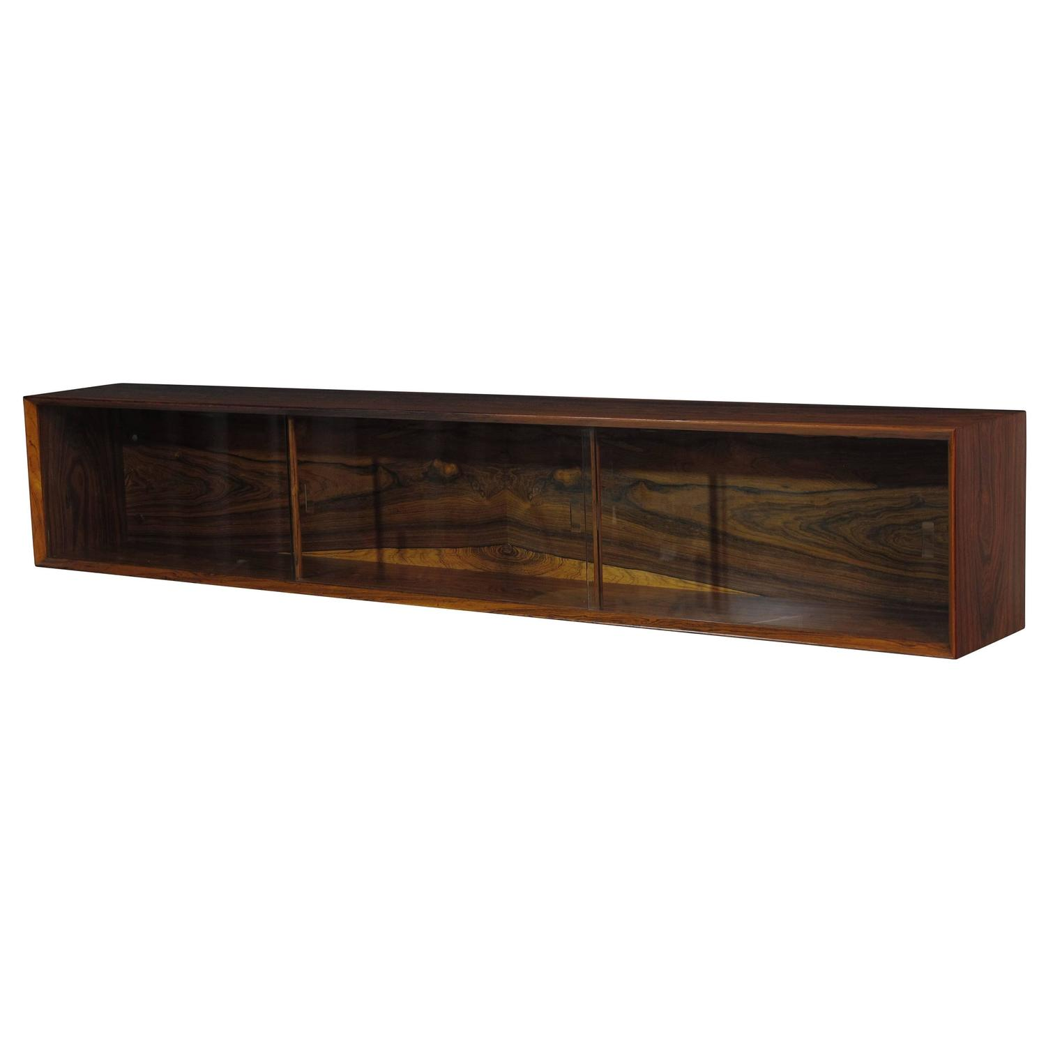 Wall Mount Floating Danish Rosewood Credenza For Sale At