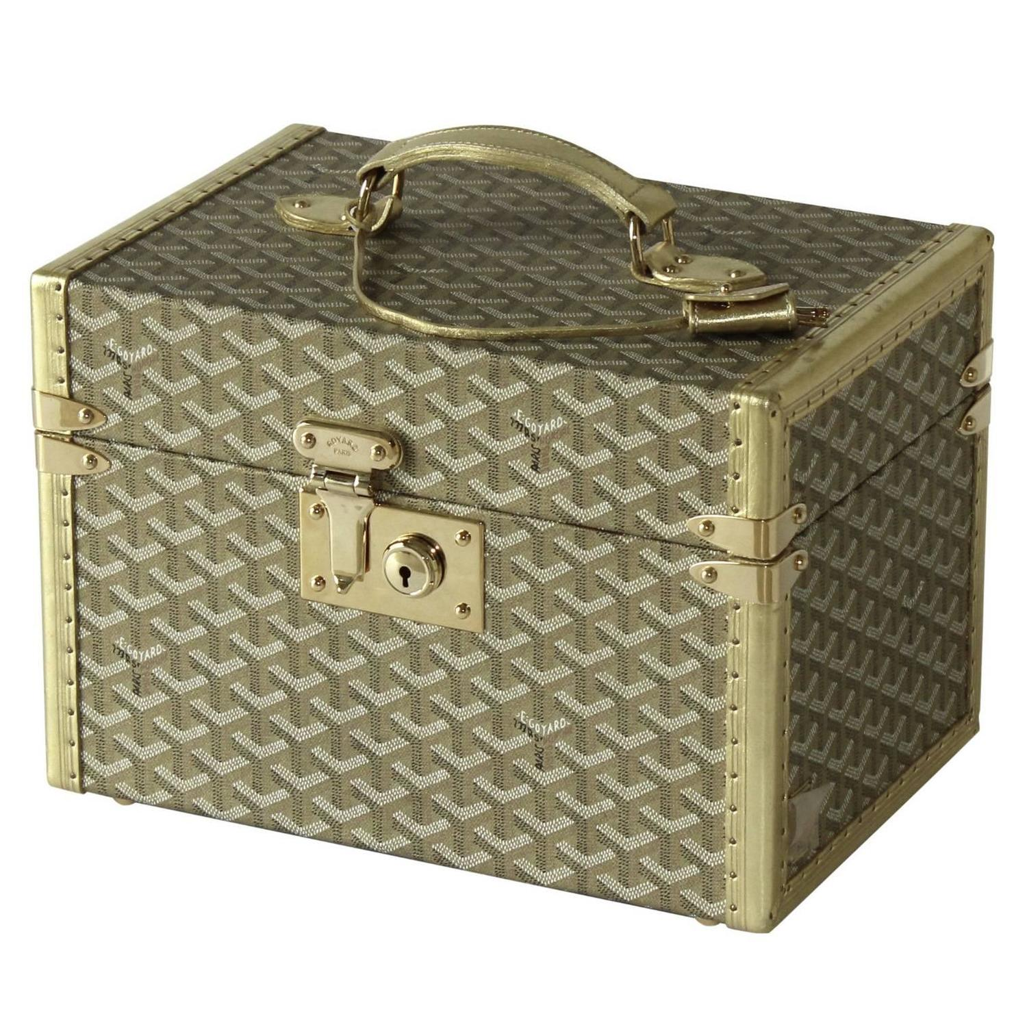 Goyard Gold Vanity Case at 1stdibs