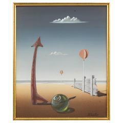 Norman Black Surrealistic Beach Scene