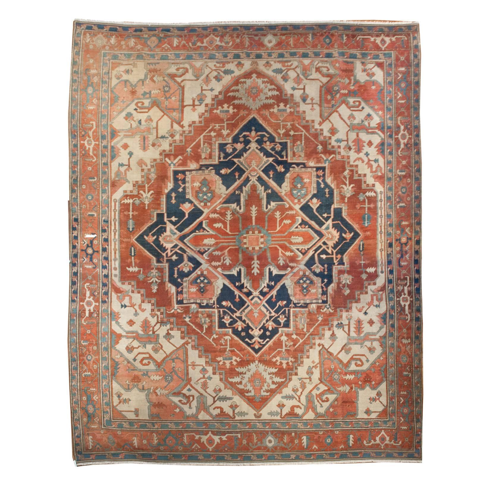 19th Century Serapi Rug