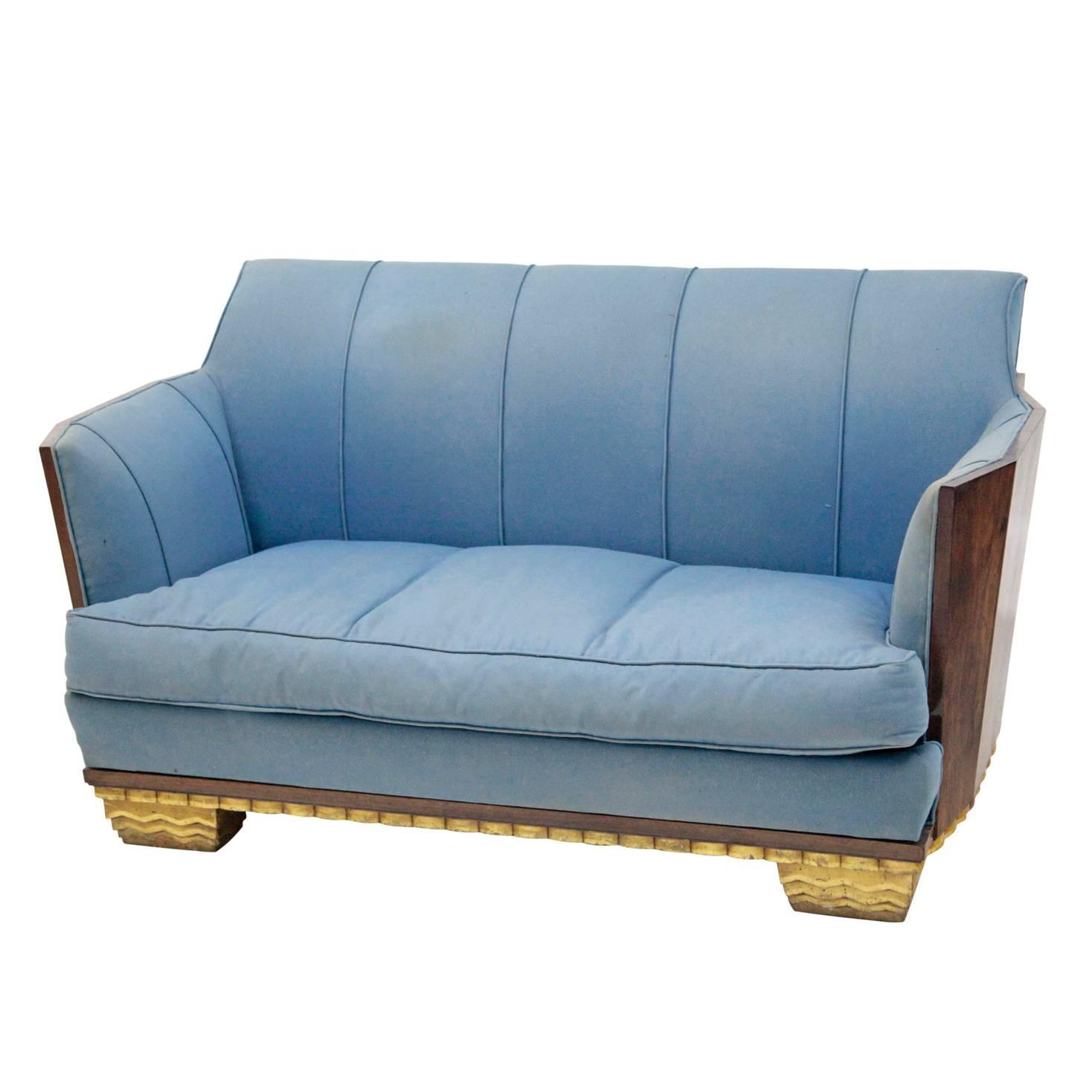 beautiful french art deco sofa at 1stdibs. Black Bedroom Furniture Sets. Home Design Ideas