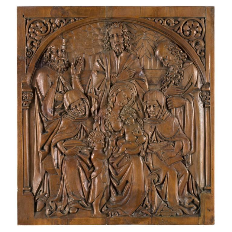 Holy Family Sculpted Walnut