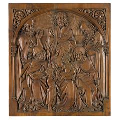 Holy Family Sculpted Walnut