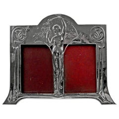WMF Art Nouveau Silver-Plated Double Picture Photograph Frame, circa 1905