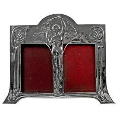 WMF Art Nouveau Silver-Plated Double Picture Photograph Frame, circa 1905