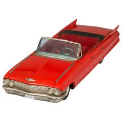 Large 1961 Vintage Cadillac Convertible Tin Toy
