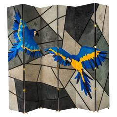 Custom Large-Scale Folding Screen by Patrick Dragonette with Kyle Bunting
