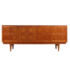 Rastad and Relling Teak Graphic Sideboard, Gustav Bahus, Norway, 1960s