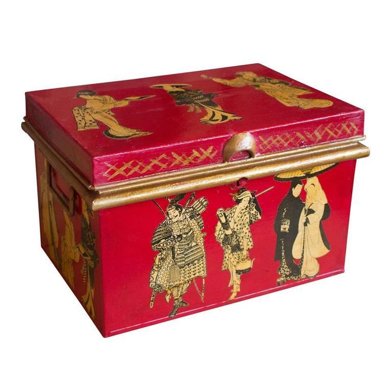 Antique English Deed Box At 1stdibs