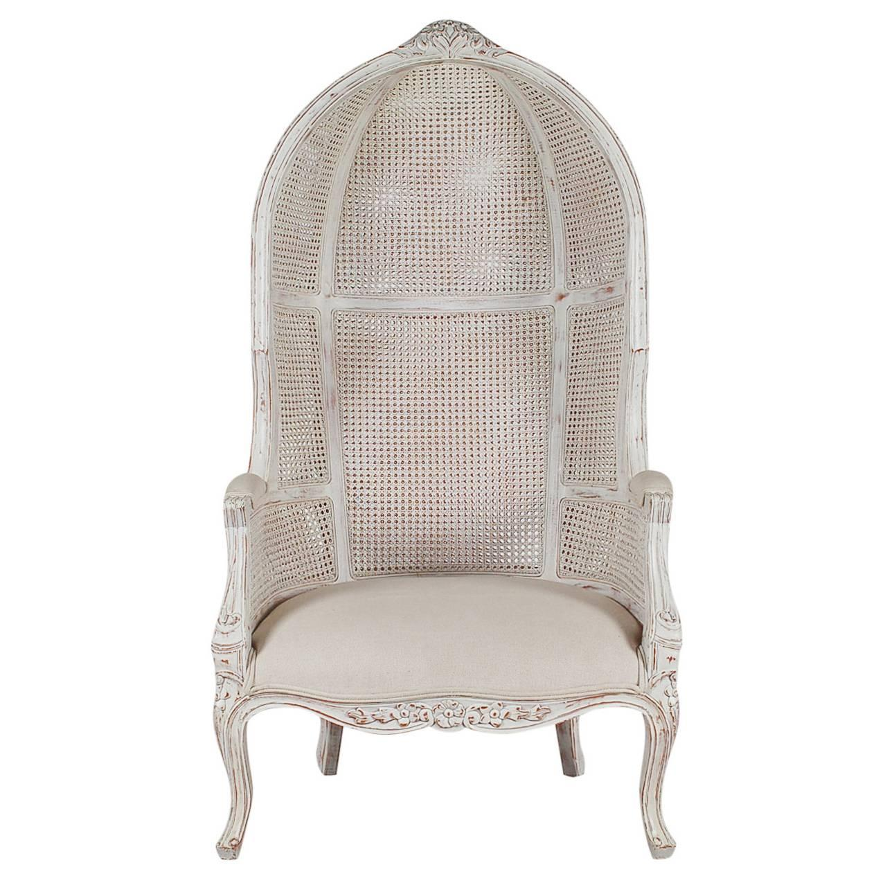 Swell French Style Cane Wingback Canopy Porters Chair At 1Stdibs Cjindustries Chair Design For Home Cjindustriesco