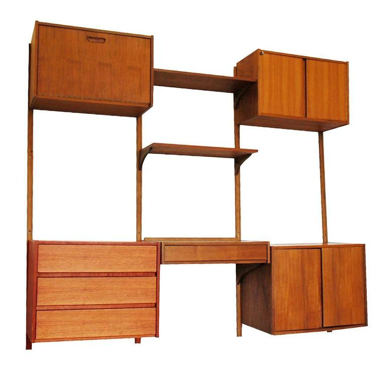 Modular Danish Modern Teak Cado Wall Unit After Poul Cadovius For