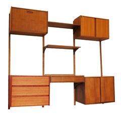 Modular Danish Modern Teak Cado Wall Unit After Poul Cadovius