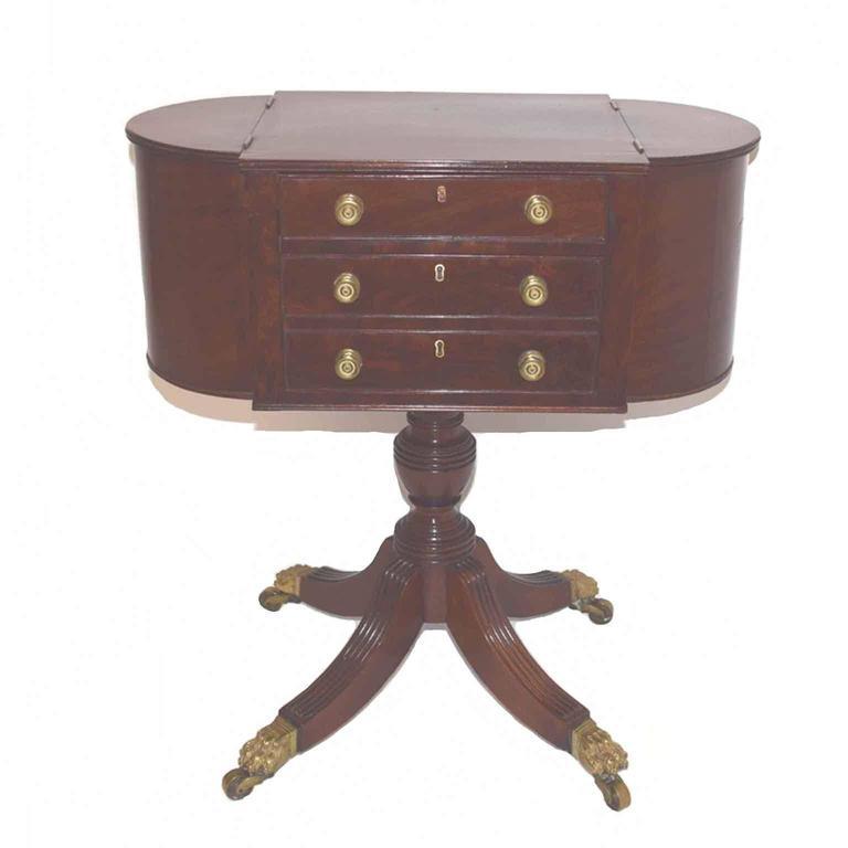 Antique American Federal Period Mahogany Side Table Circa