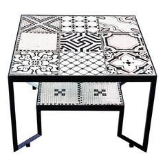 Black Tiles Spider Table by Francesco Della Femina
