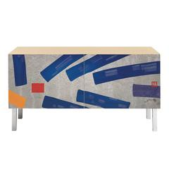 Intarsia Cabinet by Hsiao Chin for Laura Meroni