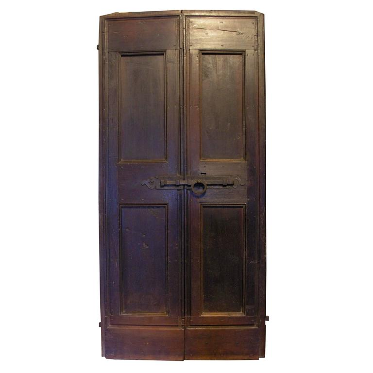 Antique walnut double door for sale at 1stdibs for Double doors for sale