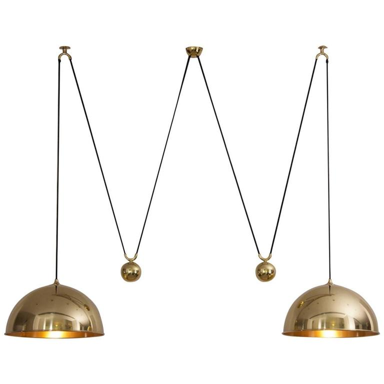 Florian Schulz Double Posa Pendant Lamp with Side Counter Weights