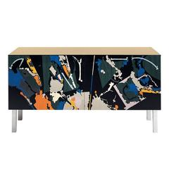 Intarsia Cabinet by Edoardo Franceschini for Laura Meroni